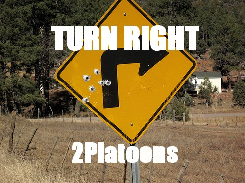 TURN RIGHT/2Platoons