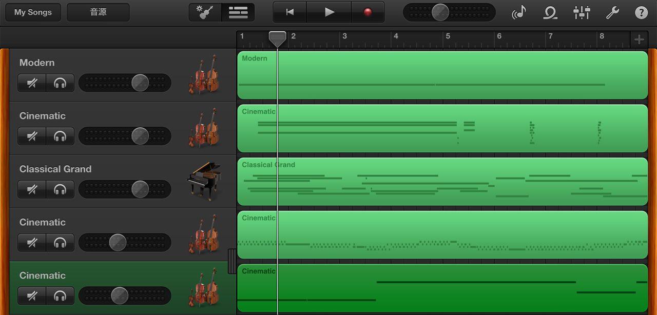 iPadの為の8小節現代音楽Take2