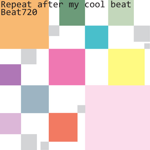 Repeat after my cool beat