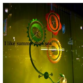 I like summer than sea