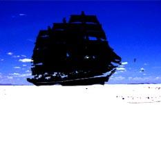 熱帯砂漠を漂う帆船