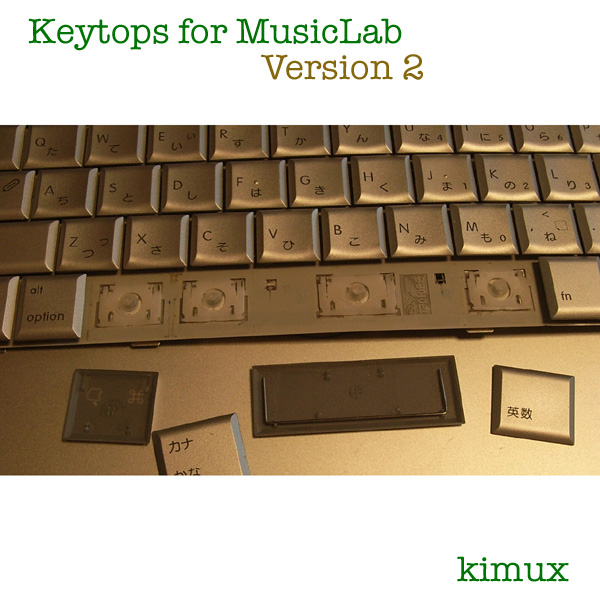 Keytops for MusicLab Version 2